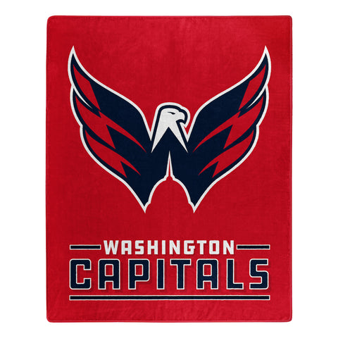 NHL Washington Capitals 50 x 60 Jersey Raschel Throw Blanket - Bed, Bath, And My Team