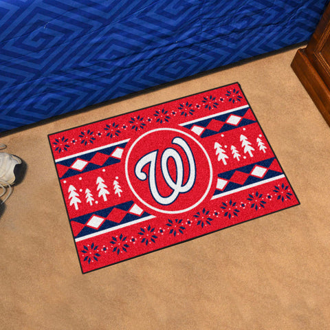 MLB Washington Nationals CHRISTMAS SWEATER Starter Rug - Bed, Bath, And My Team