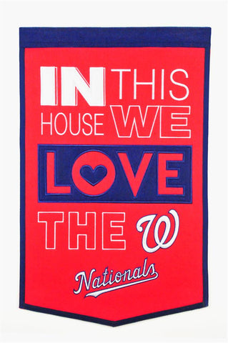 MLB Washington Nationals HOME Hanging Wool Banner - Bed, Bath, And My Team