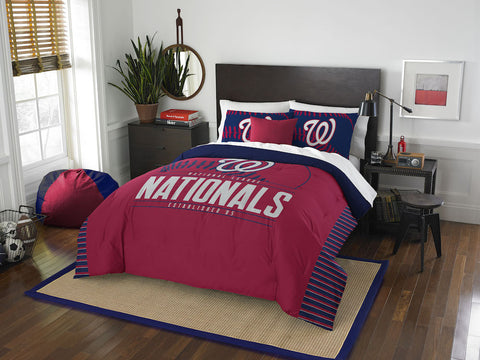MLB Washington Nationals Queen/Full Comforter and Sham Set - Bed, Bath, And My Team