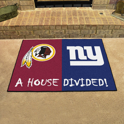 NFL Rivalry Rug Washington Redskins / New York Giants House Divided Mat - Bed, Bath, And My Team