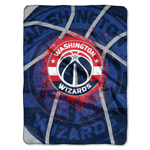 NBA Washington Wizards 60 x 80 Large Plush Raschel Throw Blanket - Bed, Bath, And My Team