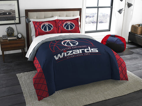 NBA Washington Wizards Queen/Full Comforter and Sham Set - Bed, Bath, And My Team