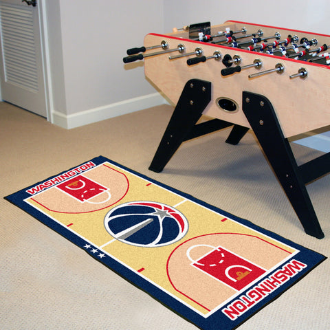 NBA Washington Wizards Basketball Court Carpet Runner Rug - Bed, Bath, And My Team