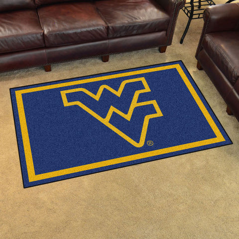NCAA West Virginia Mountaineers 4 X 6 Ft. Area Rug - Bed, Bath, And My Team