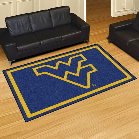 NCAA West Virginia Mountaineers 5 X 8 Ft. Area Rug - Bed, Bath, And My Team