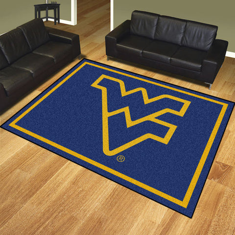 NCAA West Virginia Mountaineers 8 X 10 Ft. Area Rug - Bed, Bath, And My Team