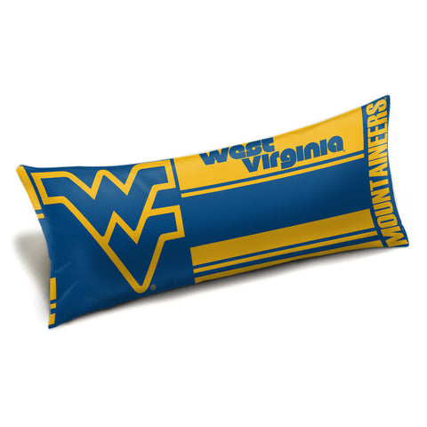 NCAA West Virginia Mountaineers King Size Body Pillow - Bed, Bath, And My Team