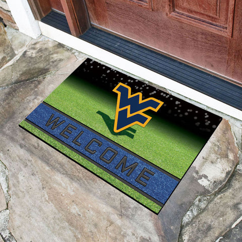 NCAA West Virginia Mountaineers Recycled Rubber CRUMB Doormat - Bed, Bath, And My Team