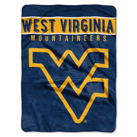 NCAA West Virginia Mountaineers 60 x 80 Large Plush Raschel Throw Blanket - Bed, Bath, And My Team