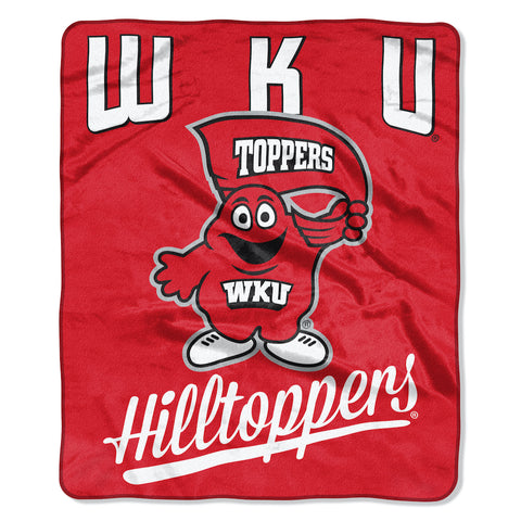 NCAA Western Kentucky Hilltoppers 50 x 60 Alumni Raschel Throw Blanket - Bed, Bath, And My Team