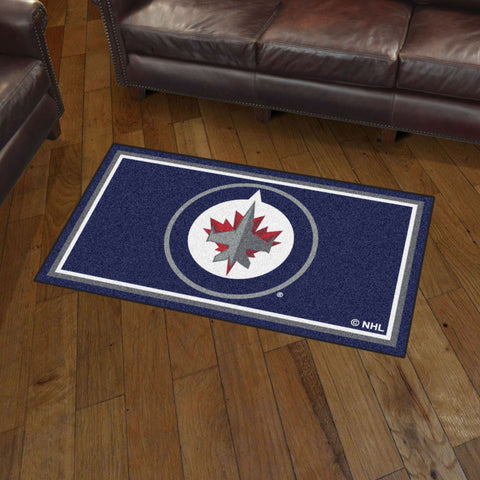 NHL Winnipeg Jets 3 X 5 Ft. Plush Area Rug - Bed, Bath, And My Team
