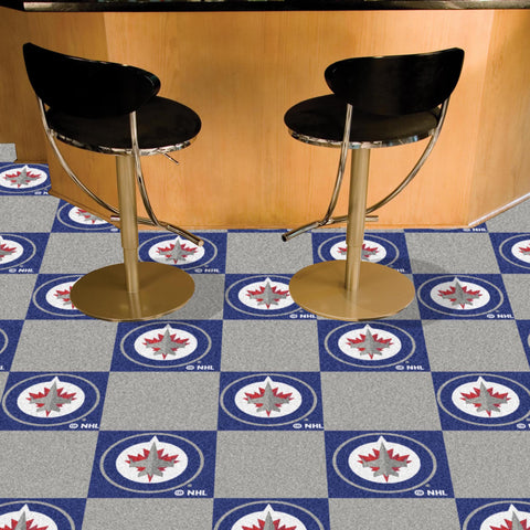 NHL Winnipeg Jets Carpet Tiles - Bed, Bath, And My Team