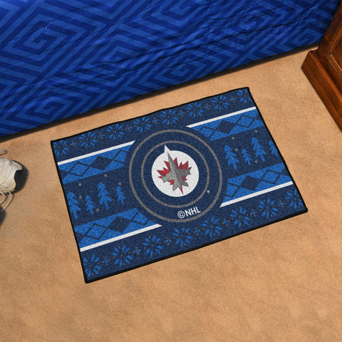NHL Winnipeg Jets CHRISTMAS SWEATER Starter Rug - Bed, Bath, And My Team