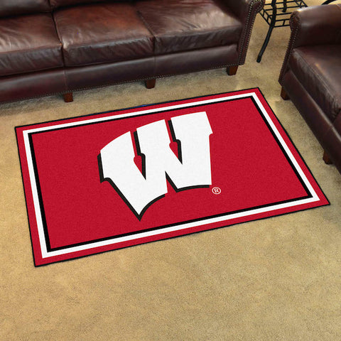 NCAA Wisconsin Badgers 4 X 6 Ft. Area Rug - Bed, Bath, And My Team