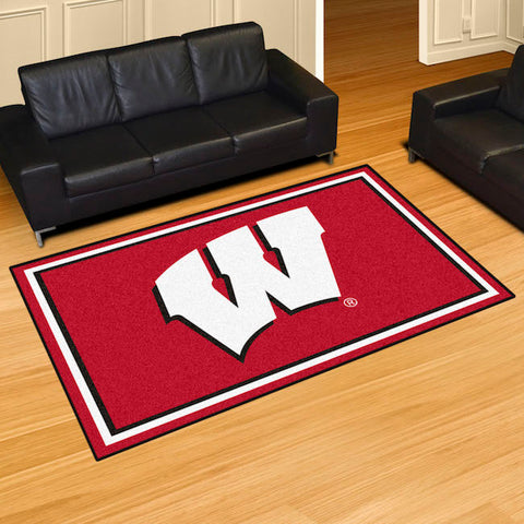 NCAA Wisconsin Badgers 5 X 8 Ft. Area Rug - Bed, Bath, And My Team