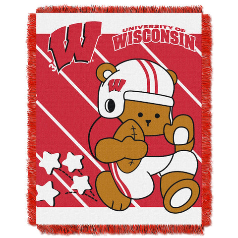 NCAA Wisconsin Badgers Baby Blanket - Bed, Bath, And My Team