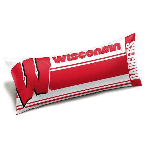 NCAA Wisconsin Badgers King Size Body Pillow - Bed, Bath, And My Team