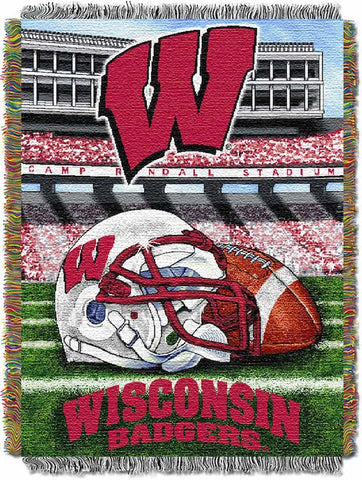 NCAA Wisconsin Badgers HOME FIELD ADVANTAGE Tapestry - Bed, Bath, And My Team