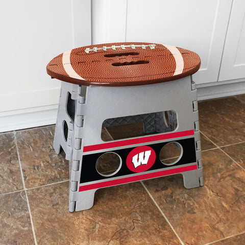 NCAA Wisconsin Badgers Folding Step Stool - Bed, Bath, And My Team
