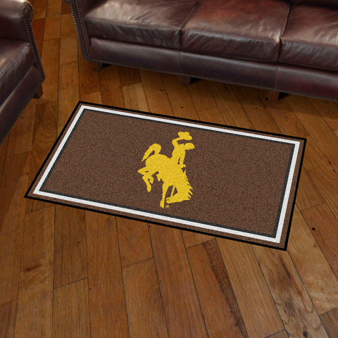 Wyoming Cowboys 3 x 5 area rug
