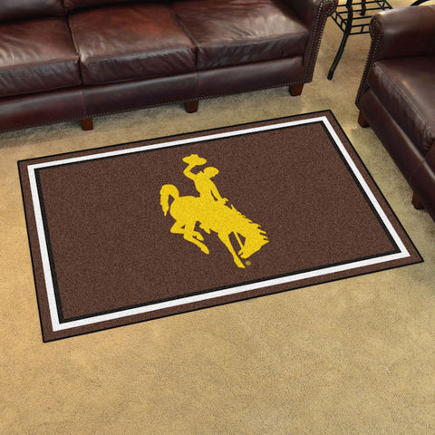 Wyoming Cowboys 4 x 6 area rug
