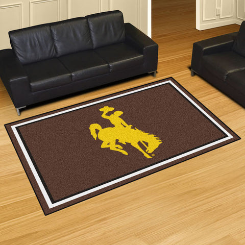 Wyoming Cowboys 5 x 8 area rug