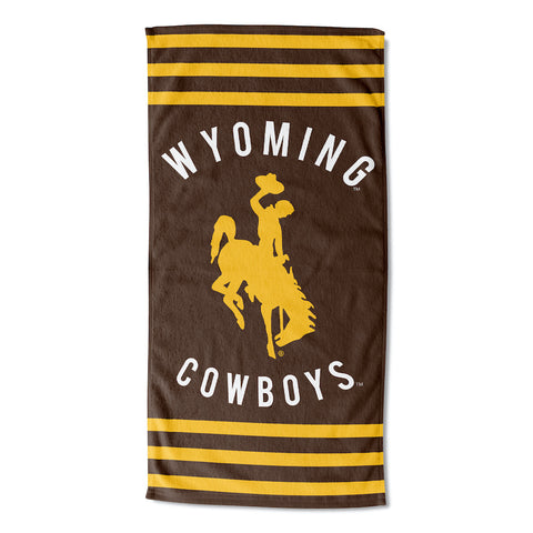 Wyoming Cowboys Beach Towel