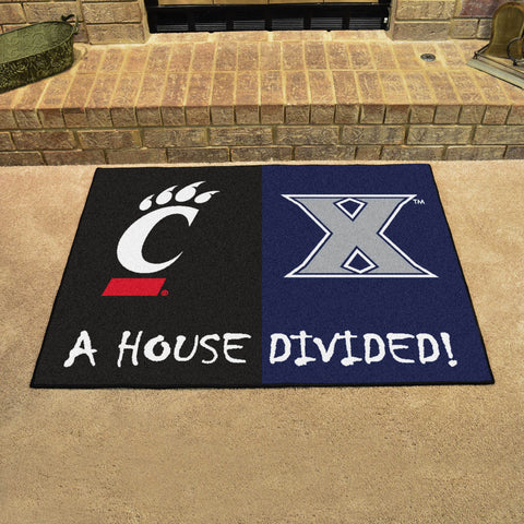 Xavier Musketeers Cincinnati Bearcats Rivalry Rug