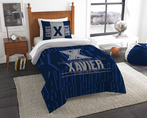 Xavier Musketeers twin comforter and pillow sham