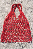Bag - LA Burro Studio Hand-Knitted Market Bag - Red