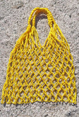 Bag - LA Burro Studio Hand-Knitted Market Bag - Yellow