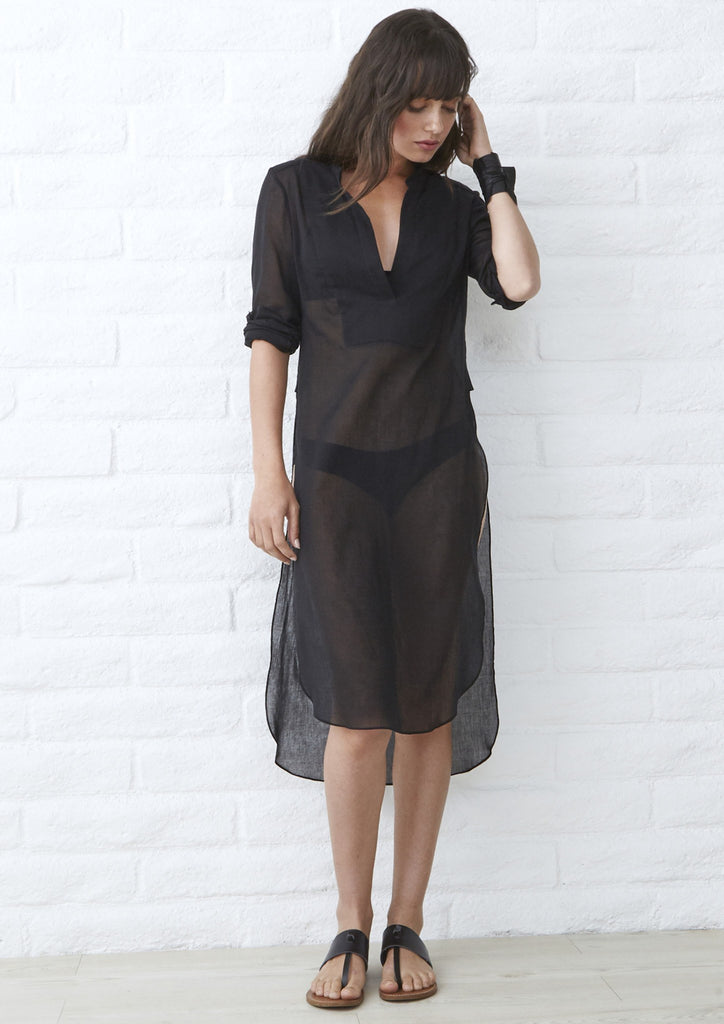 Eco Friendly Caftan, Ethically Sourced, Locally Made, Black Maxi Dress