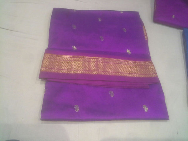 Traditional Double Pallu Paithani Saree in Many Lively Colors