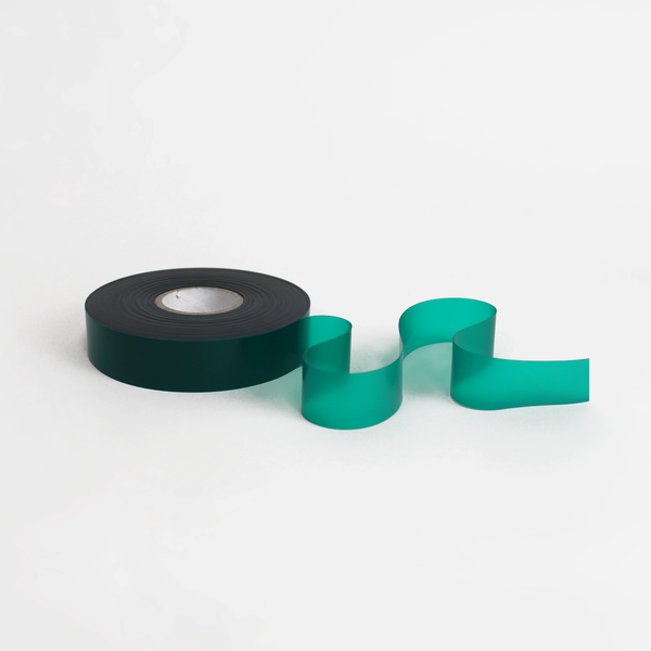 One inch green tie tape