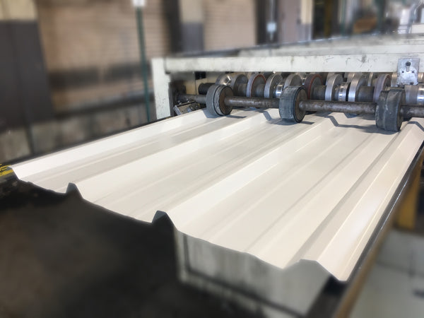 Manufacturing a White Metal Roofing Sheet