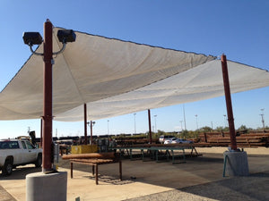 Shade Cloth used to provide shade to open area