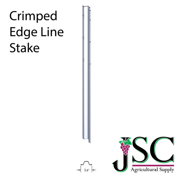 Crimped Edge Vertical Line Stake - Wholesale