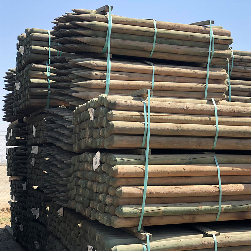 Rounded Wood stakes