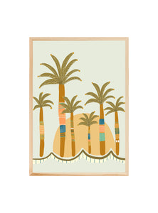 Palm party!  ~ ART PRINT