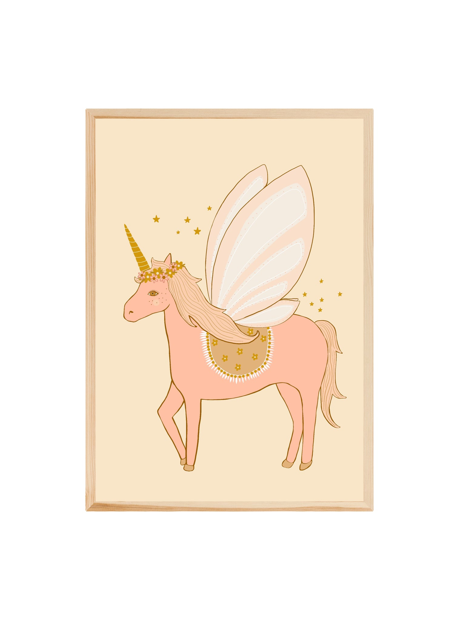 Blossom the Unicorn (pink) ~ Fine art print