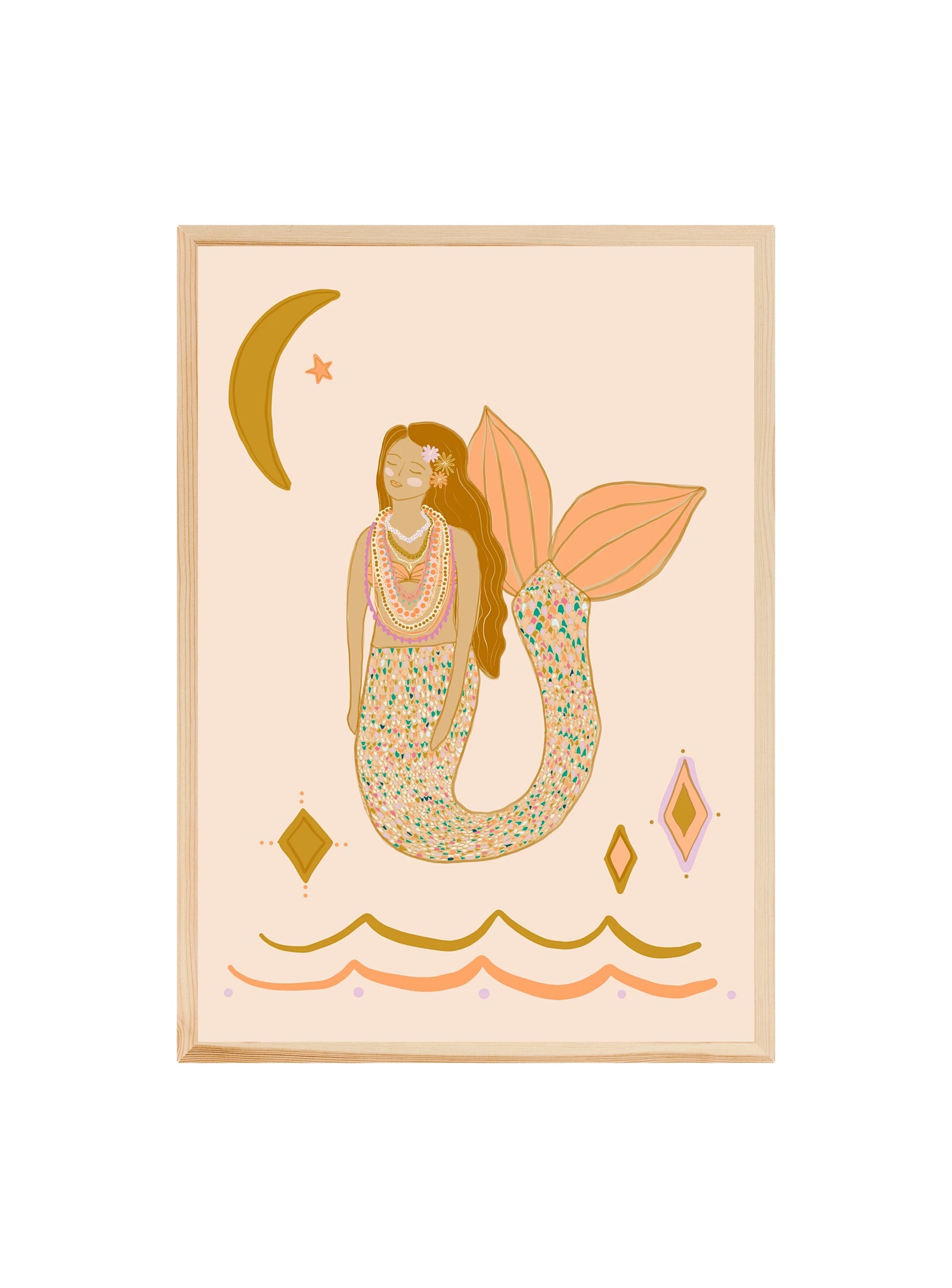 Peach Mermaid ~ Fine art print