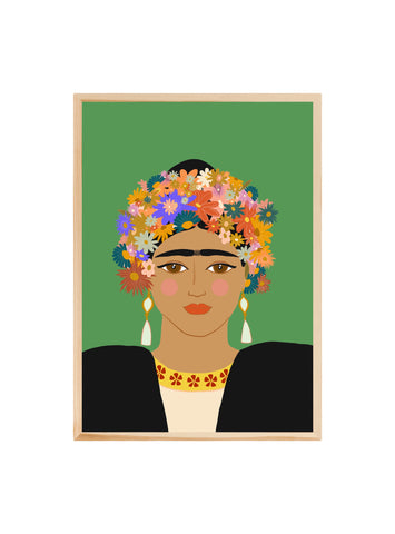 For the love of Frida (Green) ~ Fine art print