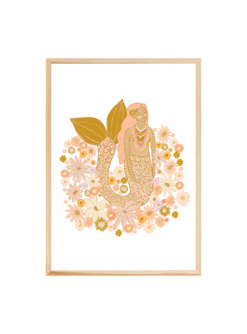 Spring Mermaid ~ ART PRINT
