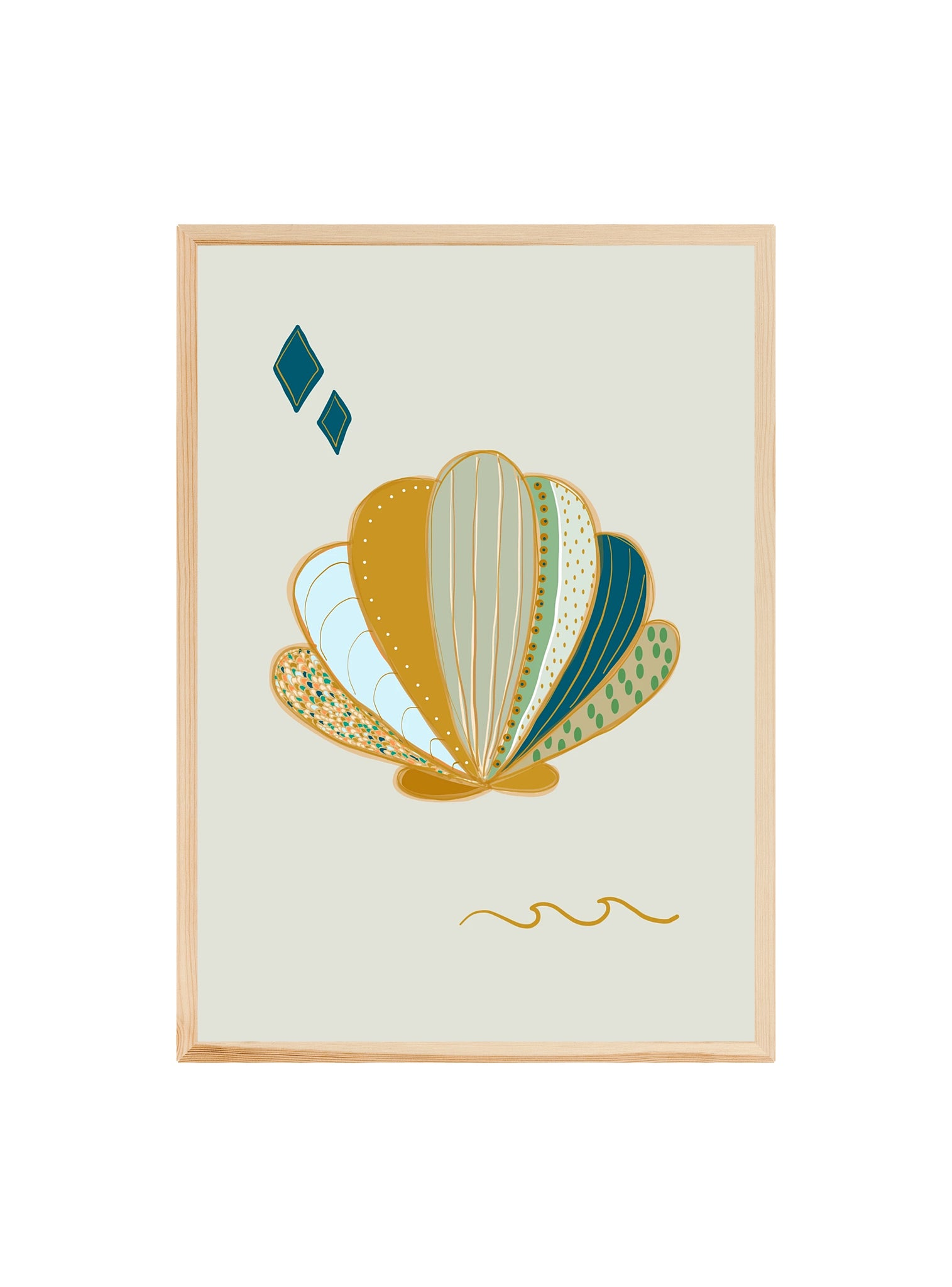 Shell (Mint) ~ ART PRINT