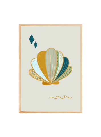 Shell (Mint) ~ Fine art print