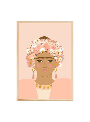 For the love of Frida (Blush) ~ Fine art print