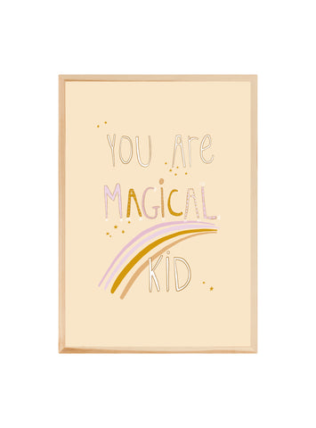 You are magical kid (lilac) ~ Fine art print