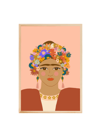 For the love of Frida (Pink) ~ Fine art print