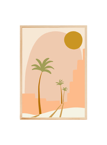 Palm city - Peach ~ Fine art print